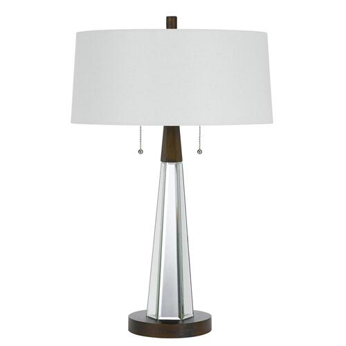 60W X 2 Caserta Mirror Table Lamp With Linen Shade