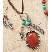 Arrowhead and Feather Red Jasper