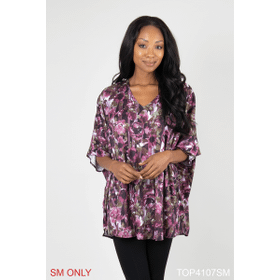 Blooming Romance Printed Knit Tunic - S/M (4 pc. ppk.)