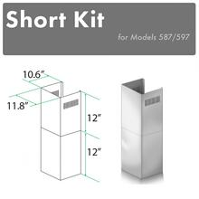 """See Details - ZLINE 2-12"""" Short Chimney Pieces for 7.7 ft. to 8 ft. Ceilings (SK-587/597)"""