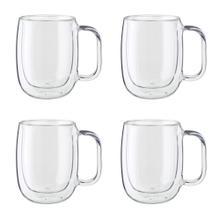 ZWILLING Sorrento Plus 4-pc Double-Wall Glass Coffee Mug Set