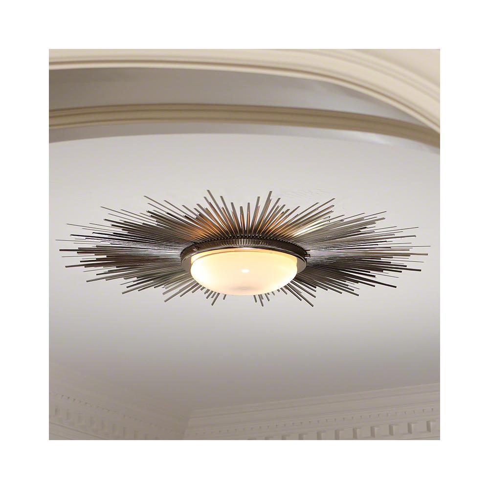 Sunburst Light Fixture-Nickel