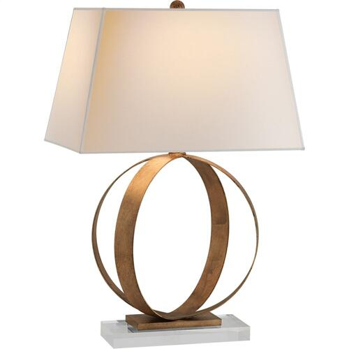 Visual Comfort CHA8531GI-NP E. F. Chapman Rings 28 inch 150 watt Gilded Iron Decorative Table Lamp Portable Light