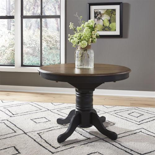 3 Piece Round Table Set- Black