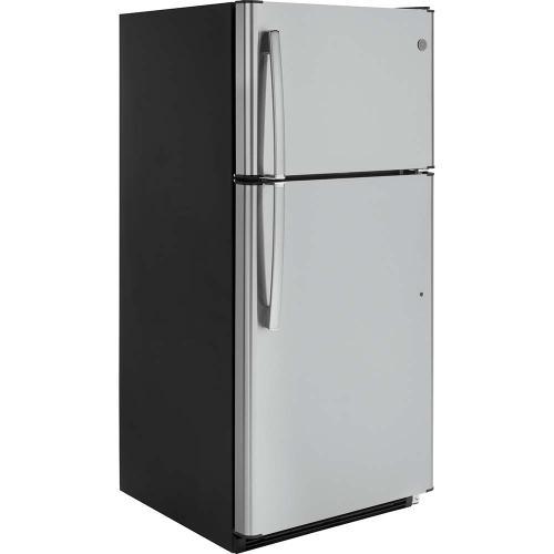 GE® Energy Star 18 Cu. Ft. Top-Freezer Refrigerator Stainless Steel - GTE18FSLKSS