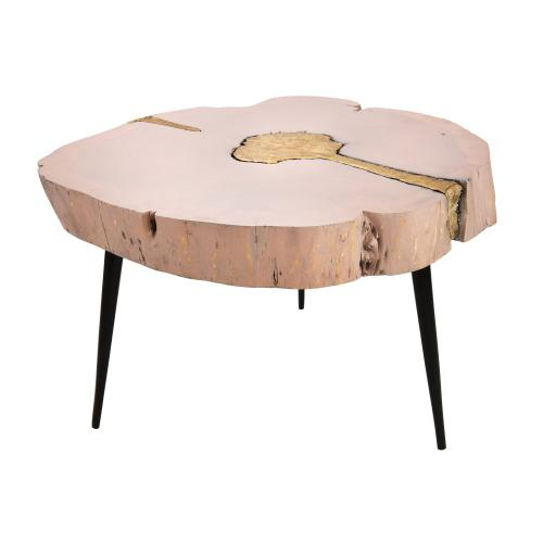 Tov Furniture - Timber Pink and Brass Coffee Table