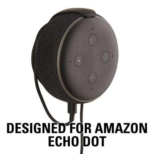 Black Amazon Echo Dot (3rd Gen) Wall Mount