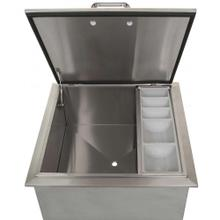 Drop-In Ice Bin Cooler with Condiment Tray, 18x18