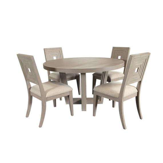Riverside - Cascade - Round Dining Table Top - Dovetail Finish