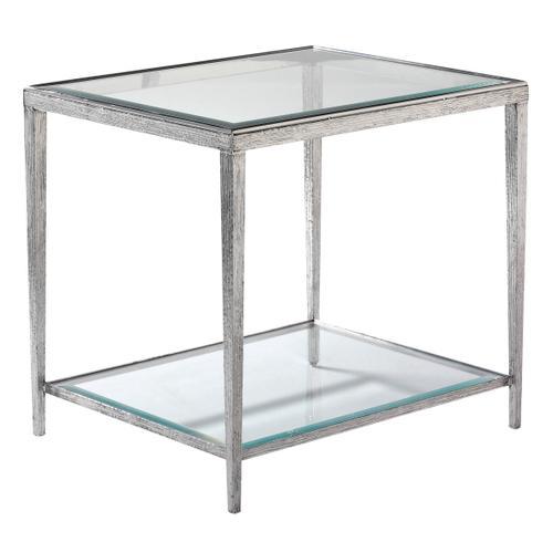 Maitland-Smith - JINX NICKEL RECTANGULAR SIDE TABLE