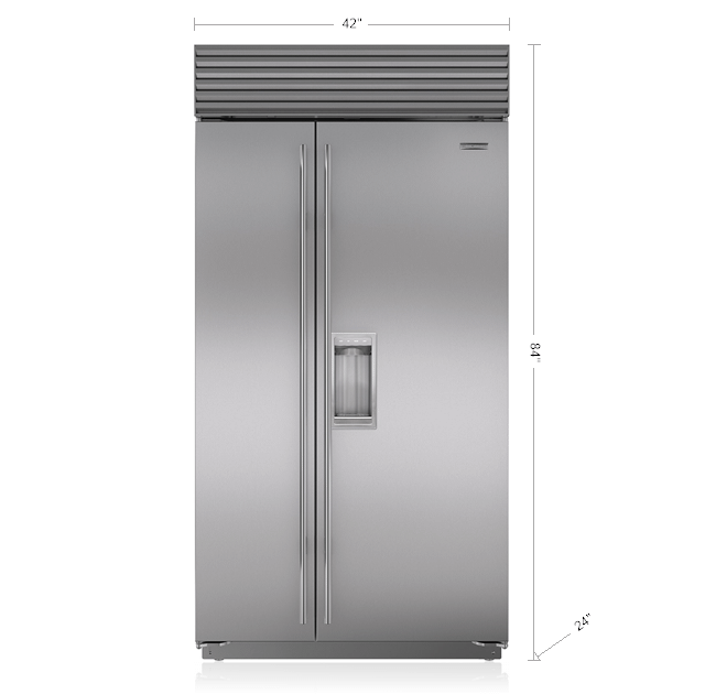 """Subzero42"""" Classic Side-By-Side Refrigerator/freezer With Dispenser"""
