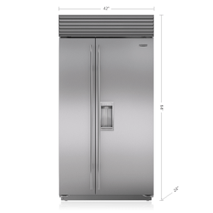 "Subzero42"" Classic Side-by-Side Refrigerator/Freezer with Dispenser"