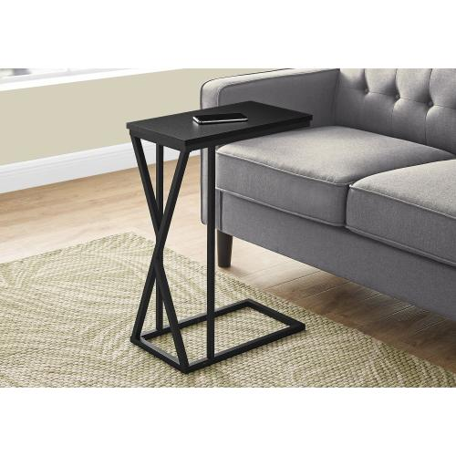 """Gallery - ACCENT TABLE - 25""""H / BLACK / BLACK METAL"""