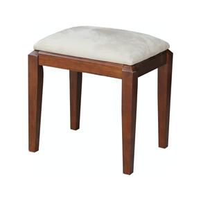 Upholstered Vanity Bench in Espresso