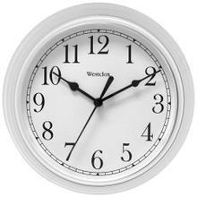 "9"" Decorative Wall Clock (White)"