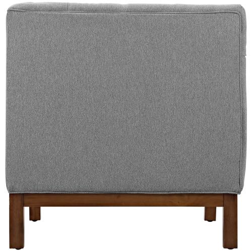 Modway - Panache Upholstered Fabric Armchair in Expectation Gray