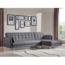Divani Casa Lennox Modern Grey Fabric Sectional Sofa Bed
