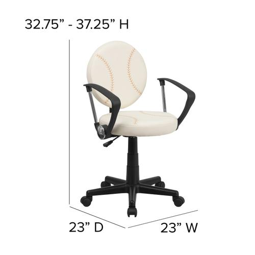 Gallery - Baseball Swivel Task Office Chair with Arms