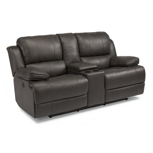 Simon Power Reclining Loveseat with Console