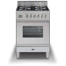 Professional Plus 24 Inch Gas Liquid Propane Freestanding Range in Stainless Steel with Chrome Trim