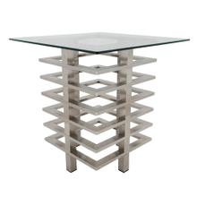 Metal Stacked Side Table, Silver