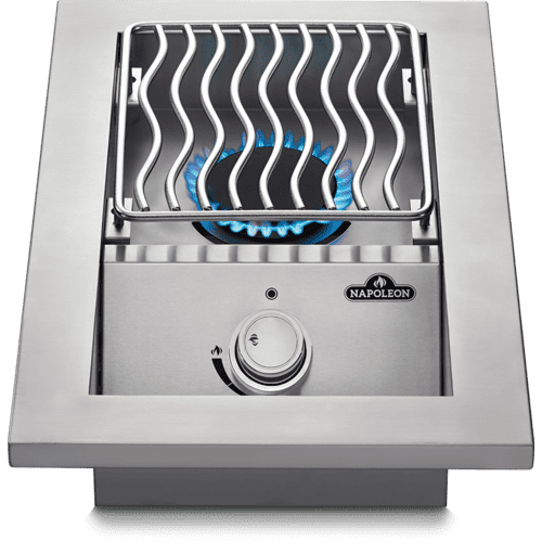 Napoleon BBQ - Built-in 500 Series Single Range Top Burner with Stainless Steel Cover , Stainless Steel , Propane