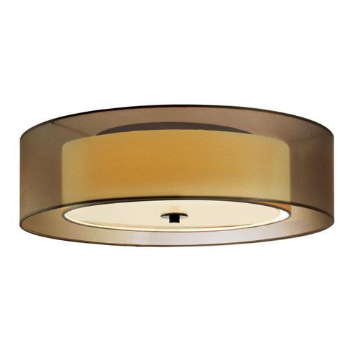 "Sonneman - A Way of Light - Puri Surface Mount [Size=22"", Color/Finish=Black Brass w/Bronze Shade, Base Type=Medium Base]"