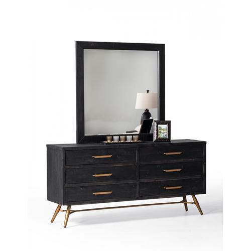 Nova Domus Tabitha Modern Dark Brown Recycled Pine Dresser