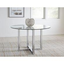 """See Details - Amalfi 48"""" Round Dining Table with Glass Finish"""