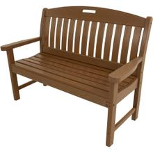 View Product - Hanover Avalon All-Weather 48 In. Porch Bench in Teak, HVNB48TE