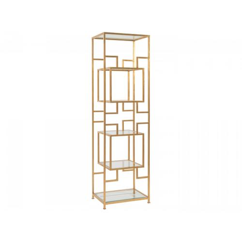Gold Leaf Suspension Slim Etagere