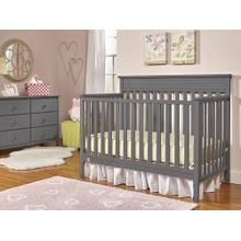 Fisher-Price Newbury Convertible Crib, Stormy Grey