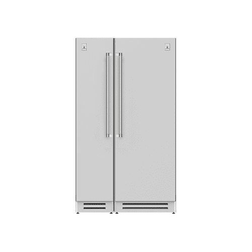 "Hestan - 48"" Column Freezer (L) and Refrigerator ® Ensemble Refrigeration Suite - Steeletto"