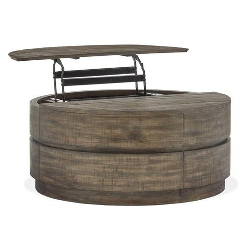 Magnussen Home - Round Lift Top Cocktail Table w/Casters