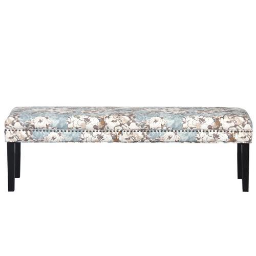 Upholstered End of Bed Bench in Primrose Sky