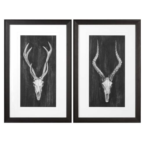 Rustic European Mounts Framed Prints, S/2