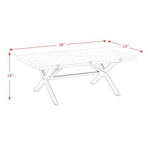 Product Image - Callista- Rectangular Cocktail Table- Beach/Natural Metal