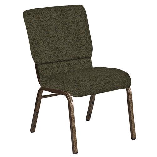 Flash Furniture - 18.5''W Church Chair in Lancaster Ash Berry Fabric - Gold Vein Frame