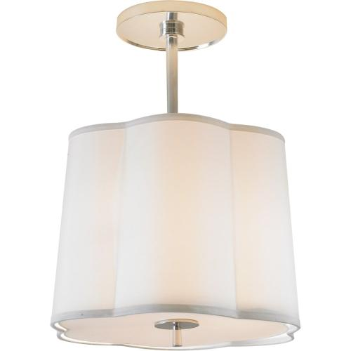 Visual Comfort BBL5016SS-S Barbara Barry Simple 3 Light 16 inch Soft Silver Hanging Shade Ceiling Light