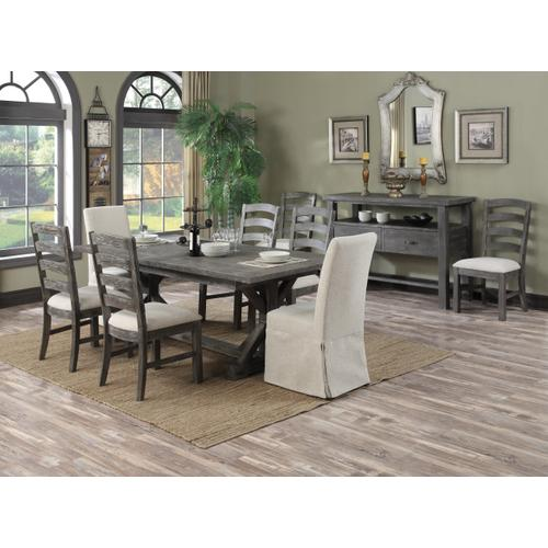 Paladin Butterfly Leaf Dining Table, Weathered Gray D350-10-03-k