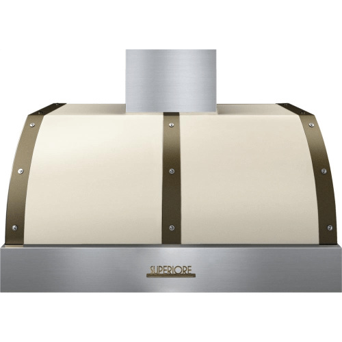 Superiore - Hood DECO 36'' Cream matte, Bronze 1 power blower, electronic buttons control, baffle filters