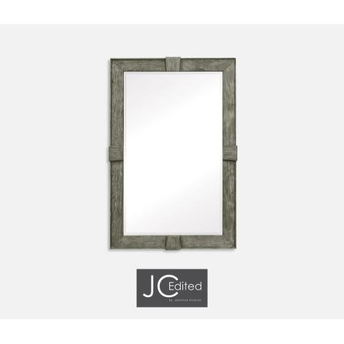 Antique Dark Grey Rectangular Mirror