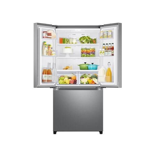 18 cu. ft. Smart Counter Depth 3-Door French Door Refrigerator in Stainless Steel
