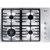 KM 3465 LP - Gas cooktop with a dual wok burner for particularly wide ranging burner capacity.