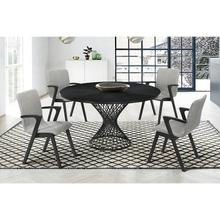 Cirque and Varde 5 Piece Black Round Dining Set