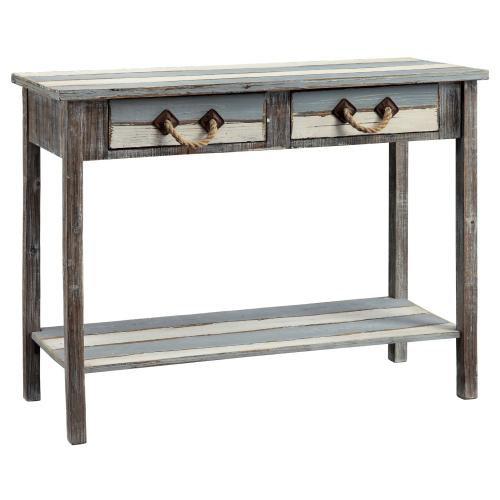 Nantucket 2 Drawer Weathered Wood Console