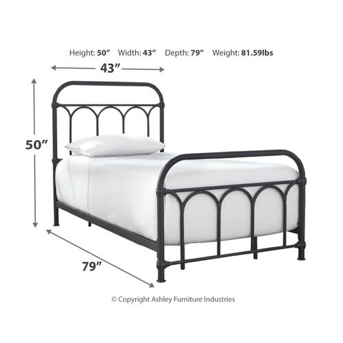 Nashburg Twin Metal Bed