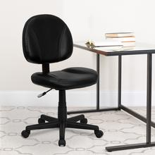 View Product - Mid-Back Black LeatherSoft Swivel Ergonomic Task Office Chair with Back Depth Adjustment
