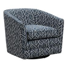 Trilogy Swivel Chair W/1 Pillow Graphic Navy
