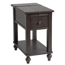 Peterson 1-drawer Chairsider In Brown-gray